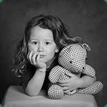 photographe enfants noir et blanc