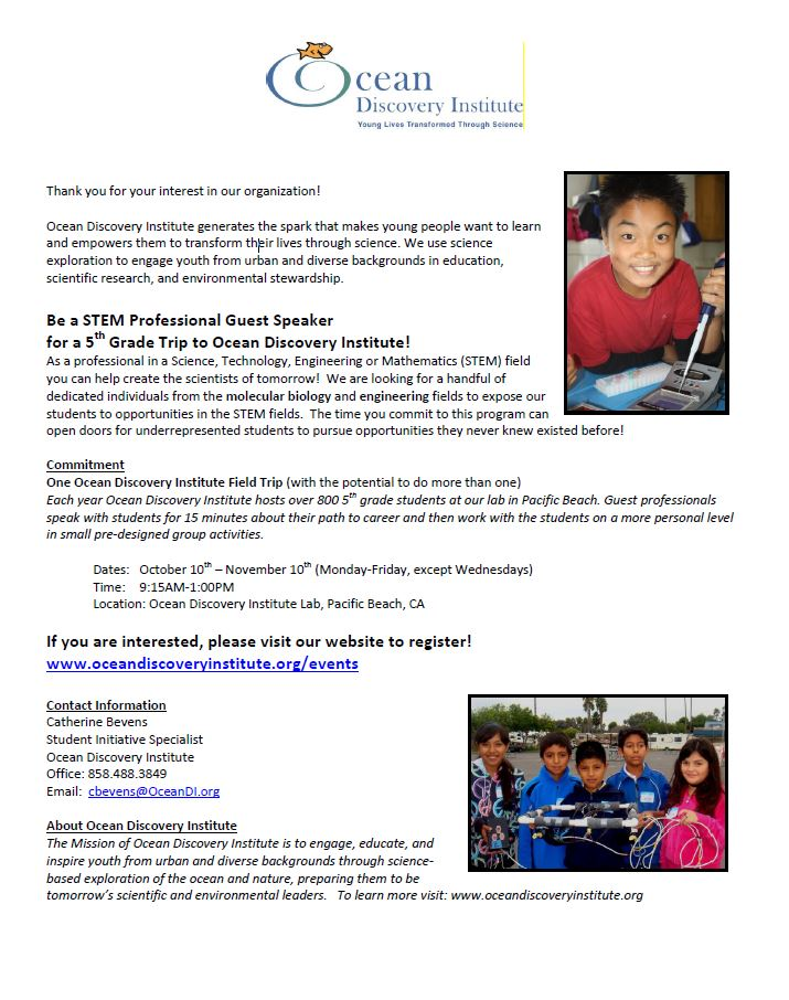 OSE Science Professionals Flyer 5th Grade