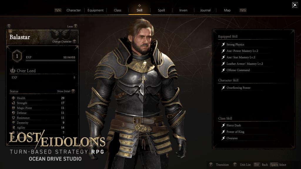 Lost Eidolons Skill UI