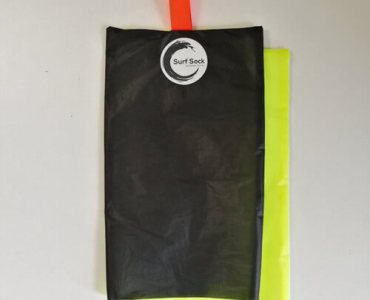 Surf Sock Black Fluro Yellow (Fluro Tiger)
