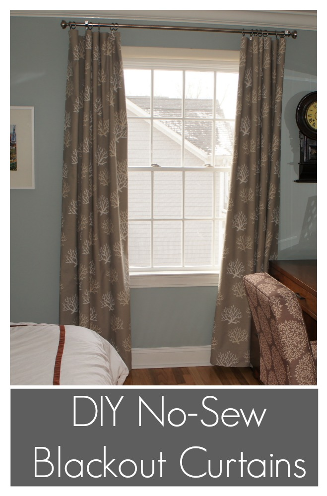 DIY No Sew Blackout Curtains Ocean Front Shack