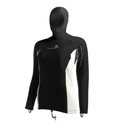 lavacore ladies long sleeve hooded shirt