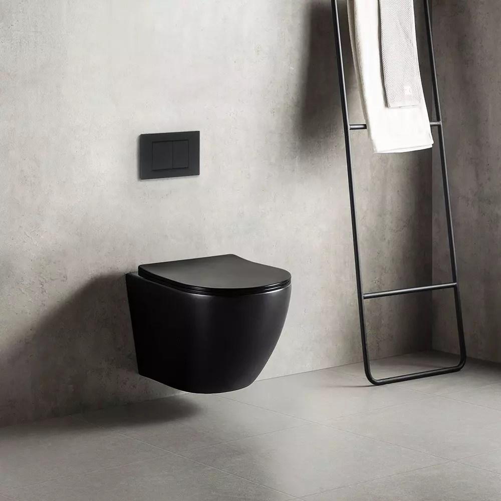 wc suspendu noire