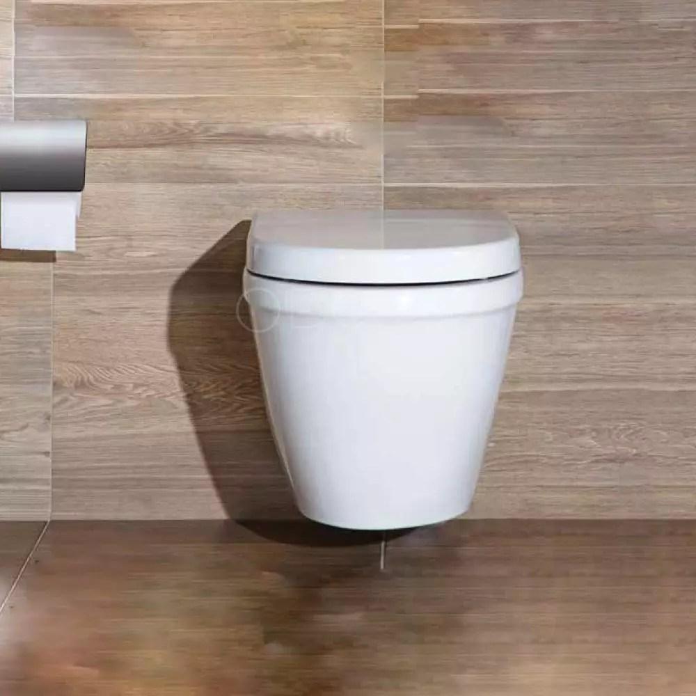 wc suspendu blanc sans bride abattant non inclus
