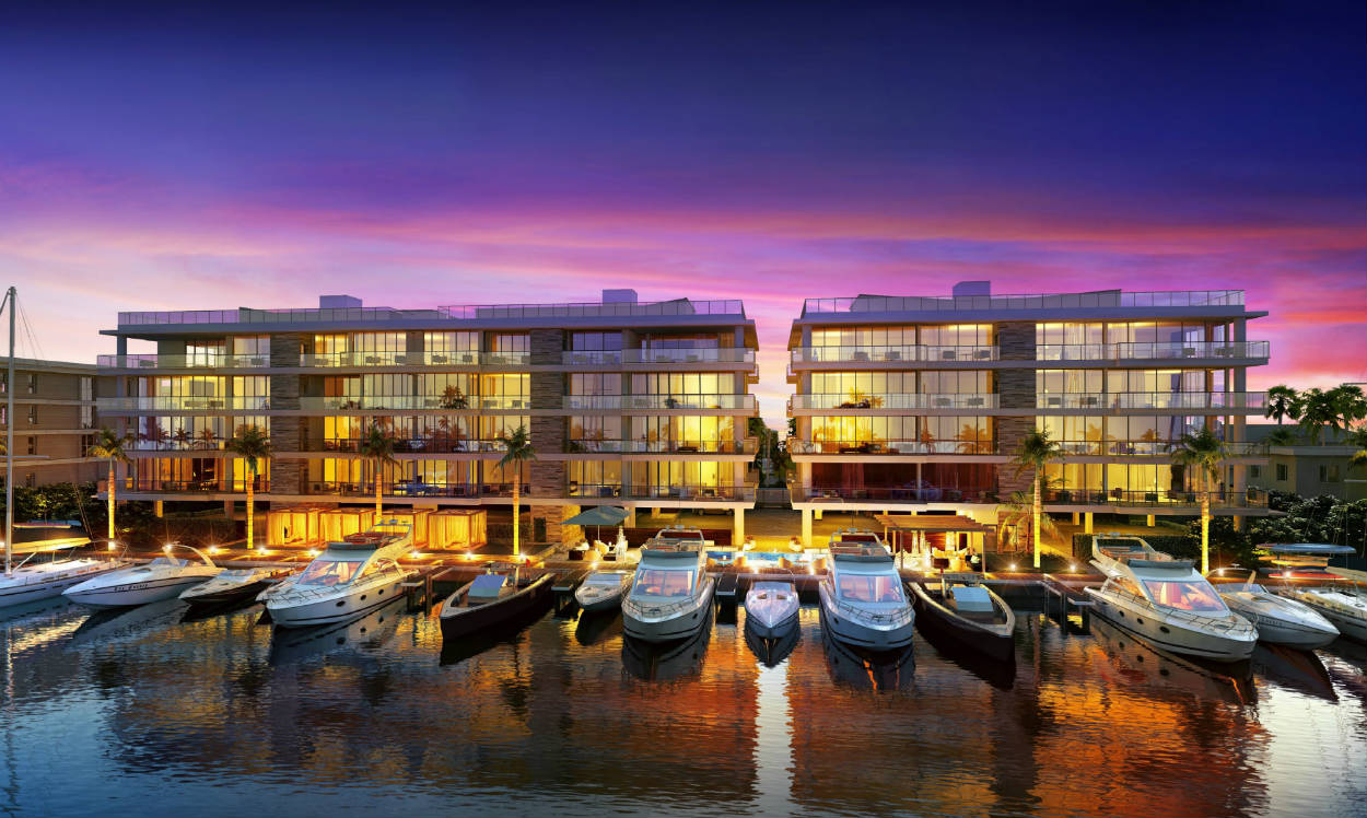 A rendering of AquaVita, one of Ocean Land's luxury condominiums in Fort Lauderdale.