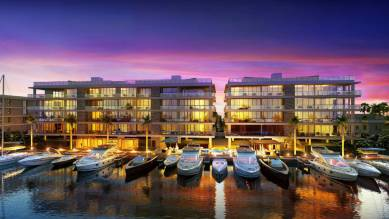 A rendering of AquaVita, one of Ocean Land's luxury condominiums in Fort Lauderdale.