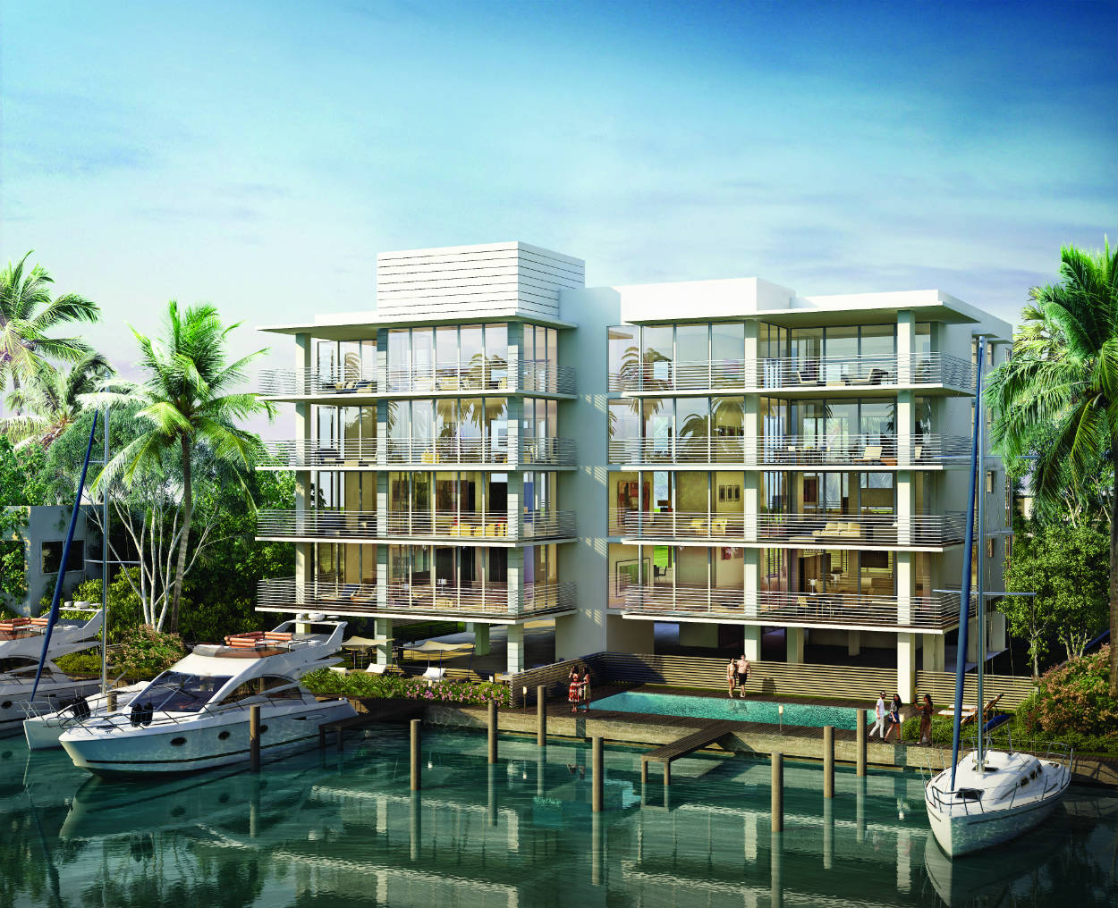 AquaVue balcony rendering, designed with a younger generation in mind.