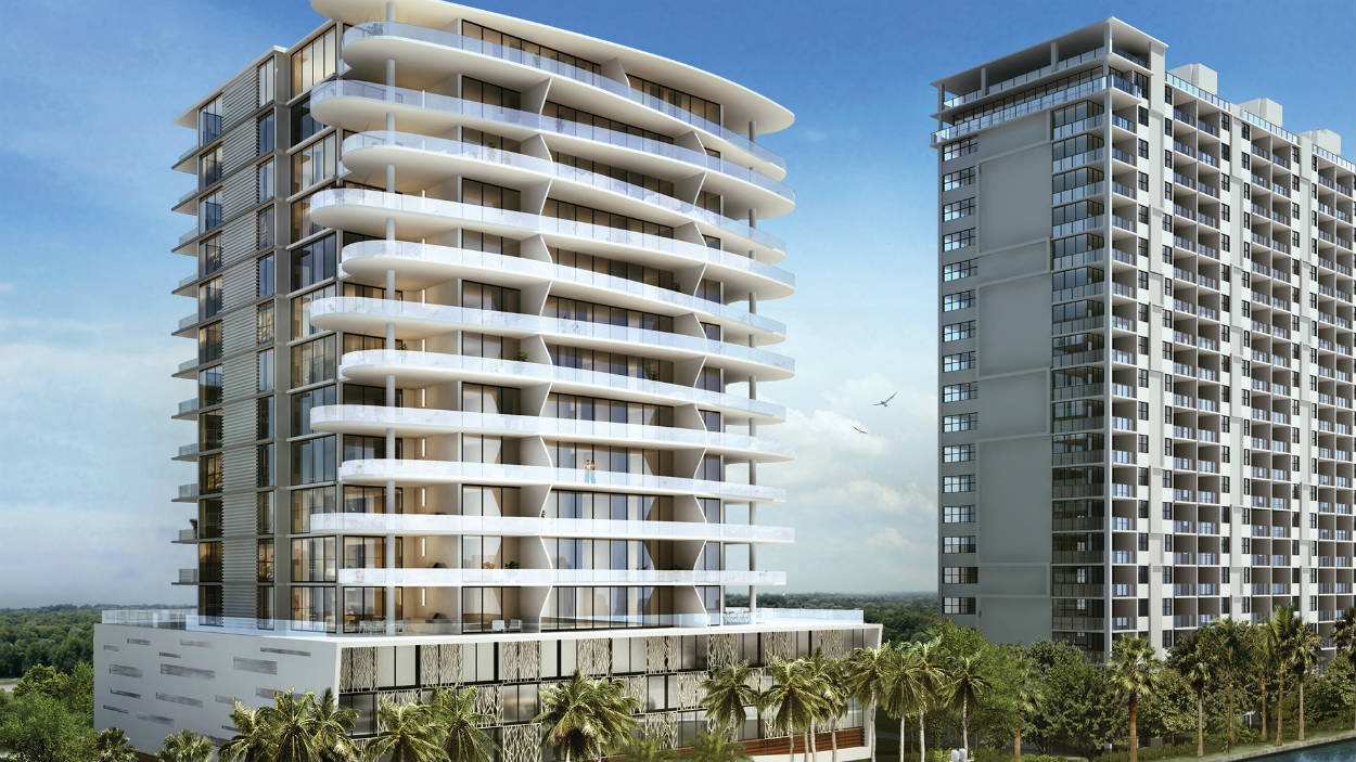 A rendering of AquaBlu, a new condominium project in Fort Lauderdale.