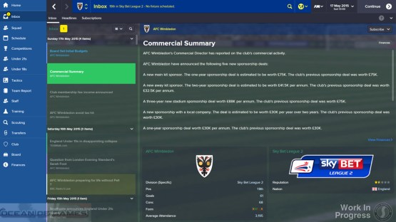 Football Manager 2015 Features