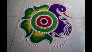 beautiful peacock rangoli designs
