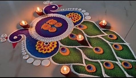 100+ Happy Dev Diwali Rangoli Design Images 2020
