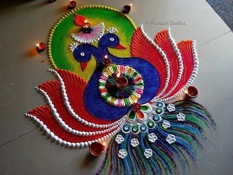 rangoli designs of peacock