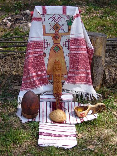 Mokosh goddess altar in Russia