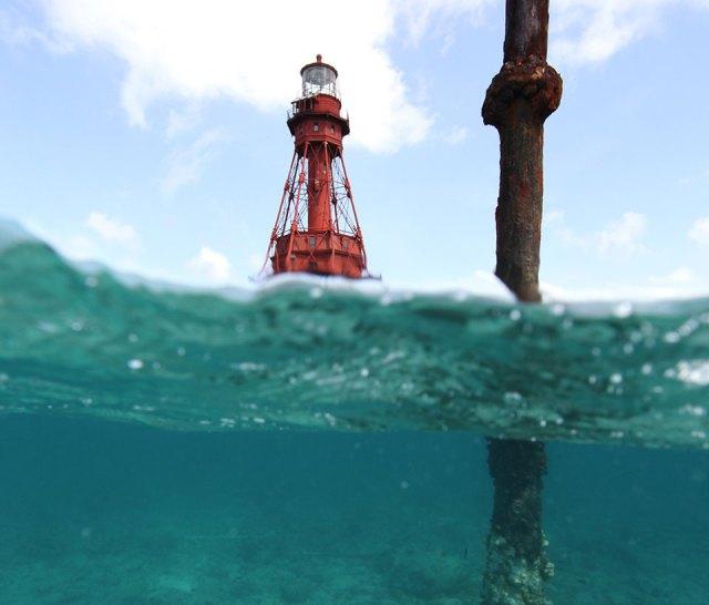 Totten Beacon American Shoal Lighthouse
