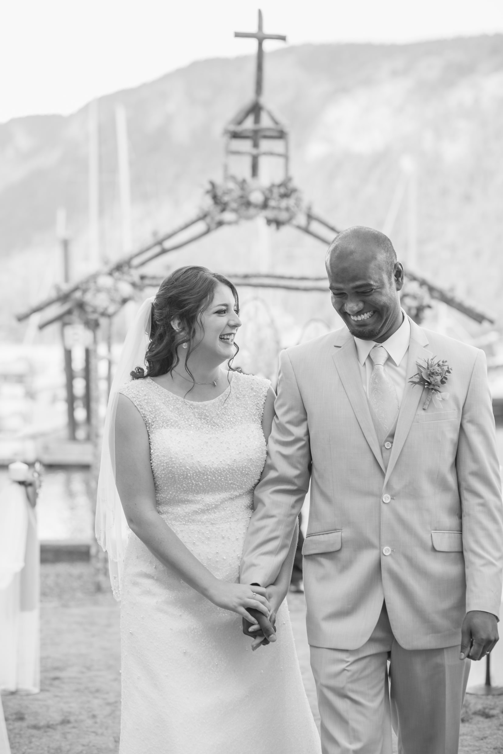 newleyweds at cowichan bay