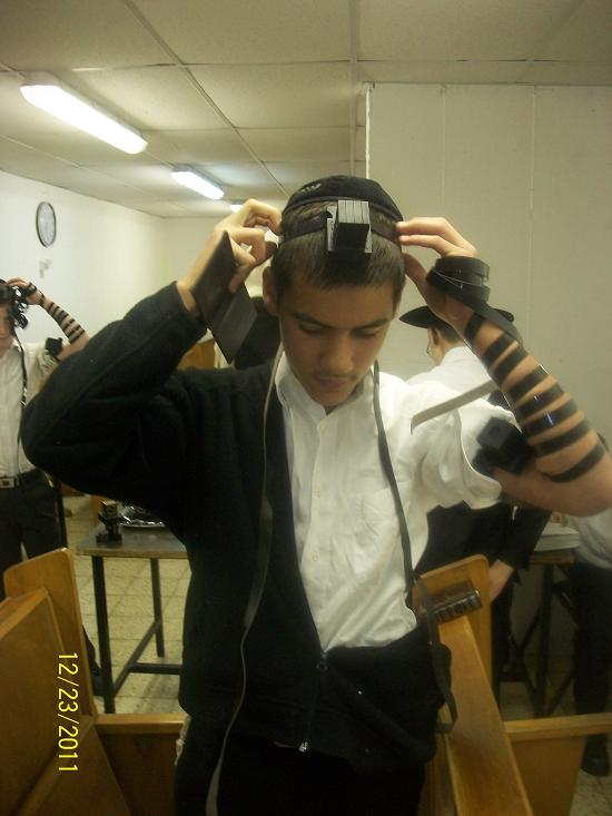 Ds12 First Time Putting On Tefillin