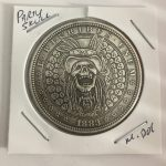 Party Time Skull Gift Lucky Flip Coin Vintage Style Morgan Dollar Coin