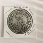 Momento Mori Skull Gift Lucky Flip Coin Vintage Style Morgan Dollar Coin
