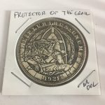Protector of the Holy Grail Lucky Flip Coin Vintage Style Morgan Dollar Coin
