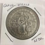 Grand Wizard God Lucky Flip Coin Vintage Style Morgan Dollar Coin
