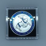 KNIGHT'S TEMPLAR Horseman Premium Color Challenge Coin 40mm with Case