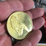 Sexy Nude Heads-Tails Gold Plated Gift Lucky Flip Coin