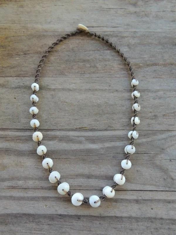 """Ocean Tuff Jewelry - """"Puka Pearl"""" Kauai Puka Shell Necklace"""
