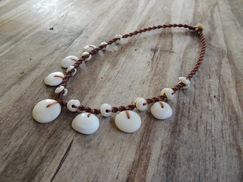 """Ocean Tuff Jewelry - """"Floating"""" Puka Shell Necklace"""