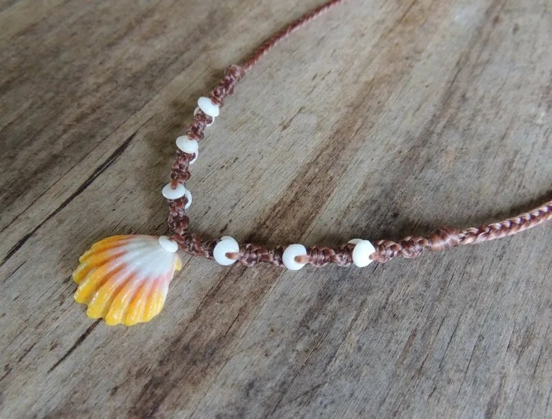"Ocean Tuff Jewelry - ""Surfer Girl"" Sunrise Shell Necklace"