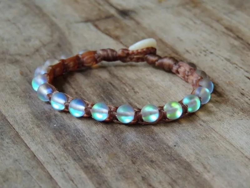 Ocean Tuff Jewelry - Grey Aqua Aura Quartz Gemstone Bracelet