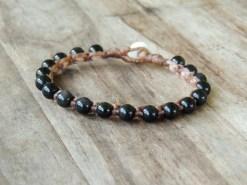 Ocean Tuff Jewelry - Rainbow Obsidian Gemstone Bracelet