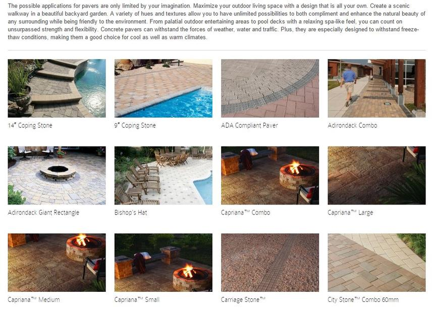 types of pavers for concrete jobs