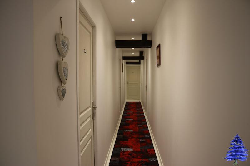 Couloir des chambres 1er étage
