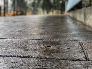 barn wood plank concrete floors