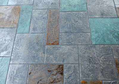 Ashlar blue stone slate cement stamping northwest oregon local contractor