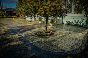 decorative stamped concrete walkways