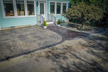 stamped concrete pathways