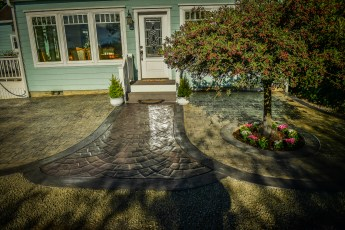 decorative stamped concrete pathways