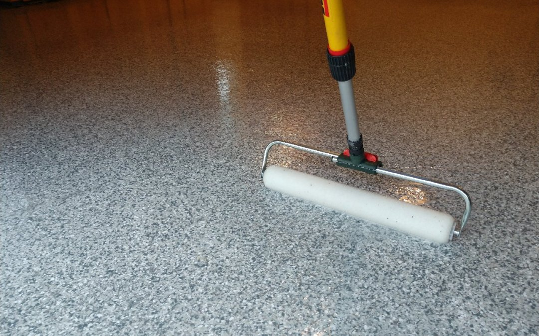 A HERMETIC Elite Crete Systems Flake Flooring System
