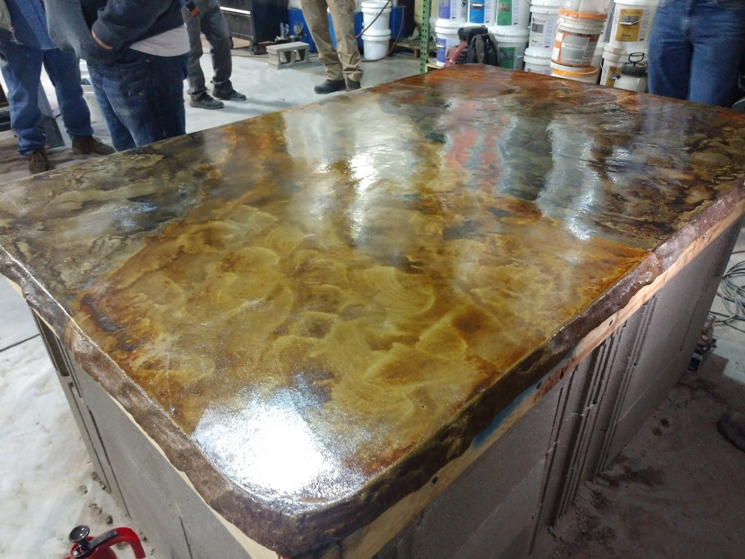 Concrete countertops on the Oregon Coast, concrete contractor.