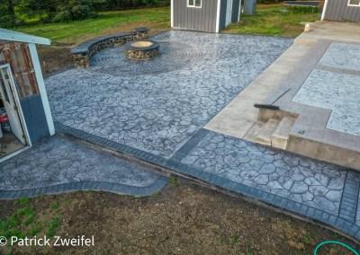 Random Stone Concrete Stamping in Tillamook, Rockaway, Manzanita, Garibaldi.