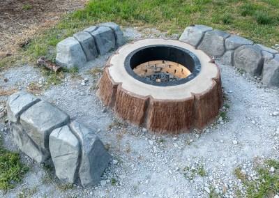 Concrete Wood Stump Firepit Decorative Concrete Artisan