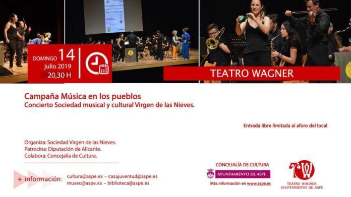 Campaña Música en los pueblos. Concierto Sociedad Musical y cultural Virgen de las Nieves