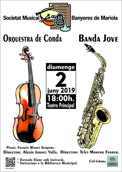 Concierto de orquesta de cuerda, banda joven
