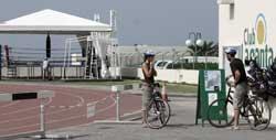 Ciclistas en el Club La Santa, La Santa, Lanzarote