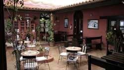 Patio canario de la Cafetería Cejas, Teguise, Lanzarote