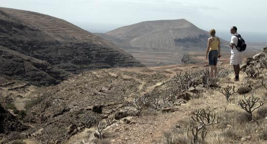 Espectacular visión del Barranco de Tenegüime, Los Valles, Guatiza, senderismo en Lanzarote