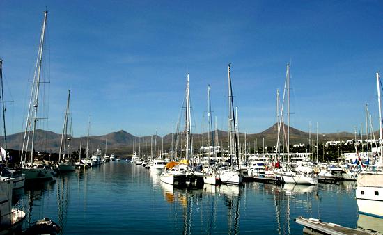 View of Puerto Calero Tourist Area in Lanzarote