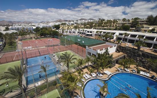 Panorámica del Centro Deportivo Fariones, Puerto del Carmen, Lanzarote