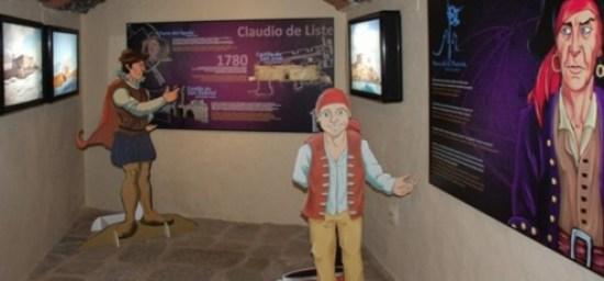 Museo en Lanzarote. Museo de la Piratería en Teguise. Interior Castillo Santa Bárbara de La Villa de Teguise